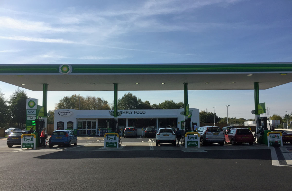 bp petrol station south woodham ferrers