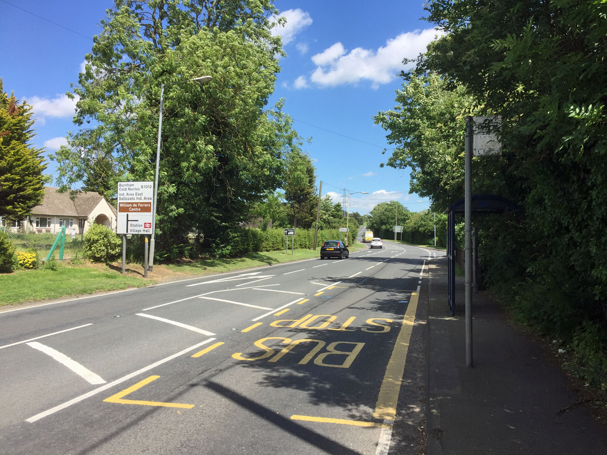Burnham Road prior to August 2017