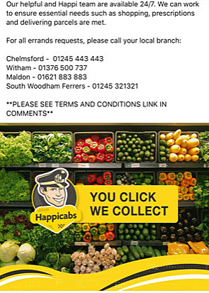 Grocery delivery south woodham