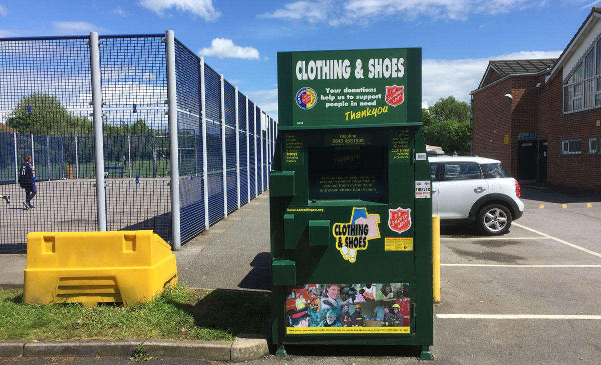 recycling clothing and footwaer cillage hall south woodham ferrers