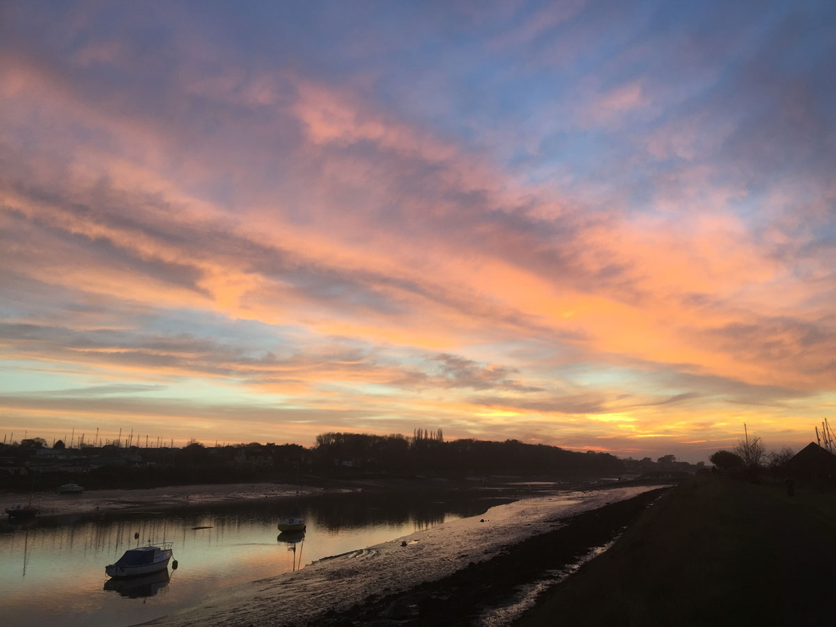 sunset on the River Crouch